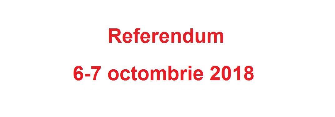 Referendum 6-7 octombrie 2018