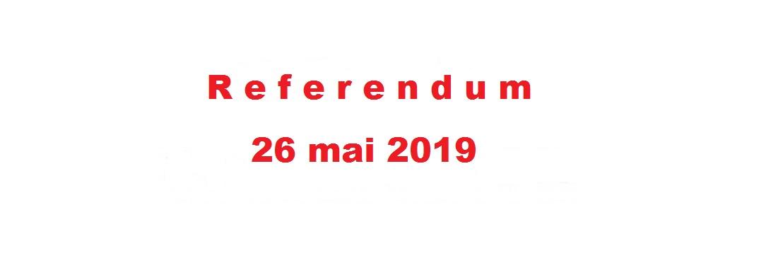 REFERENDUM 26 MAI 2019
